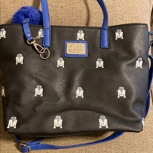 r2-d2 star wars loungefly tote